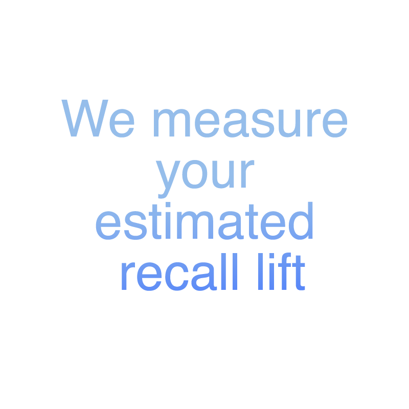 We measure your estimated recall lift